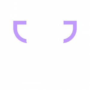 Trophy white purple